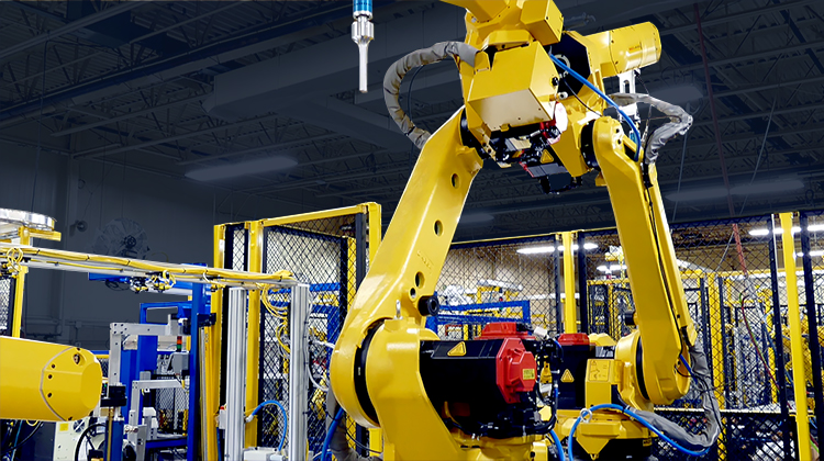 Totally Automated Systems –Robotic Clip & Sonic – Palletized Line Photo