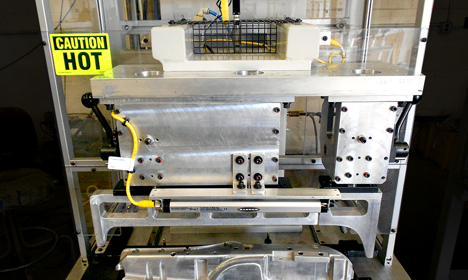 Automated Assembly Systems – Fixed Automation – Lamination Press Seam Alignment Two Station Close Up Photo