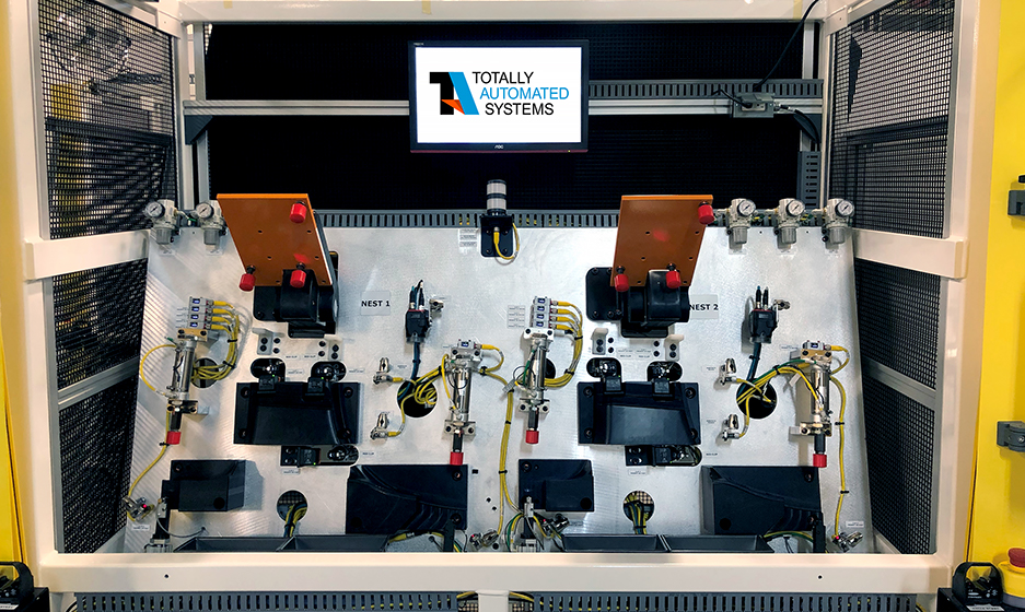 Fixed Dedicated Automated Assembly Systems Clip Machine Driving Up Acting Angled Load Photo